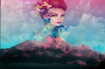 freetoedit woman portrait beautiful landscape