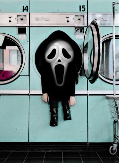 myedit scream laundry funny halloween freetoedit