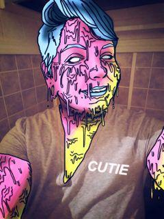 grime grimeart zombie cutie woman freetoedit