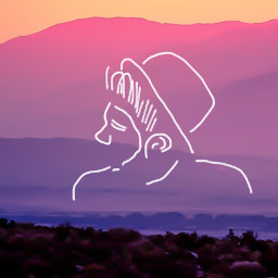 freetoedit sunset mountain boy hat