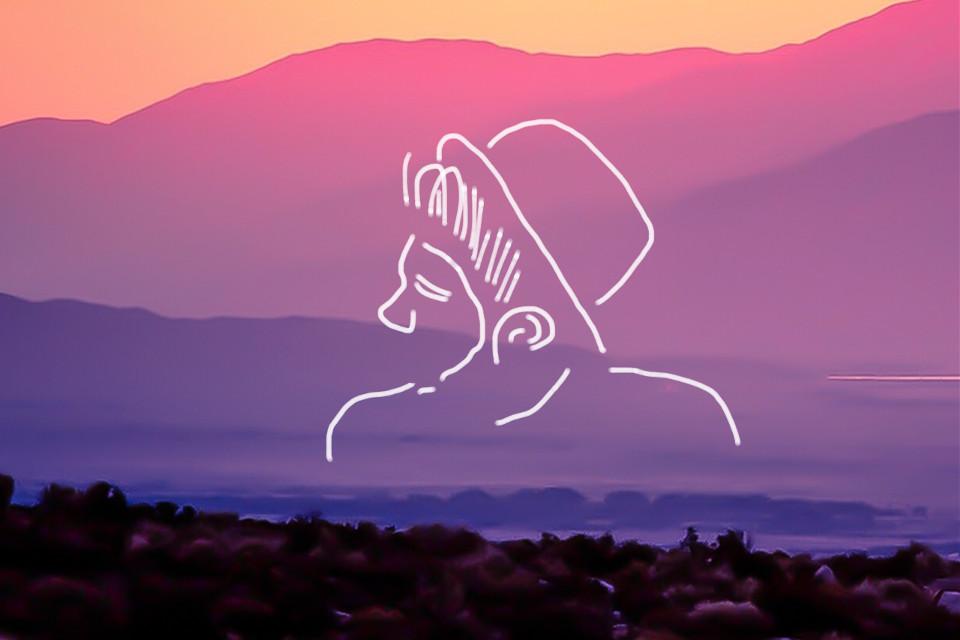 #freetoedit #sunset #mountain #boy #hat #tour #sketched