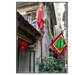 hanoi flags banderas architecture streetshot
