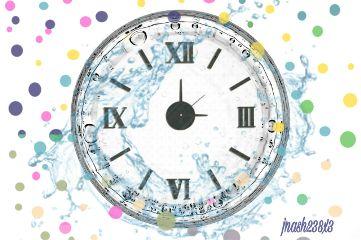 dailysticker dots clock water polkadots freetoedit