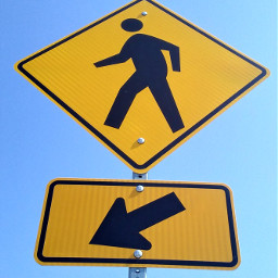 streetphotography roadsign pedestriancrossing colorful lookup freetoedit