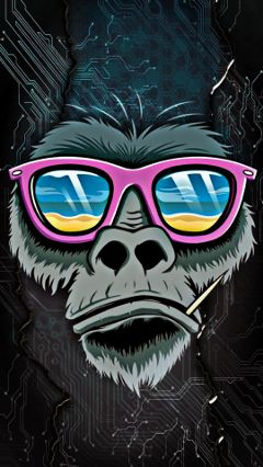 freetoedit gorilla electricity blended cool