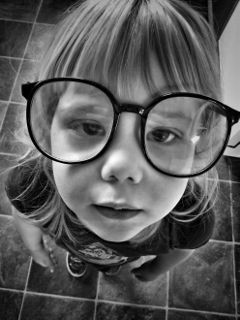 cutekids. glasses portrait girl funny