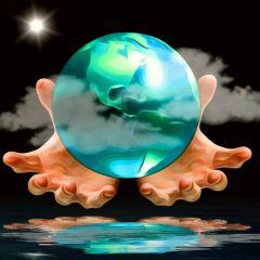 freetoedit godshands earth planet water