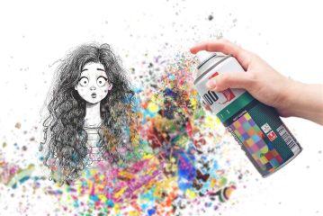 freetoedit spray girl curly curlyhair