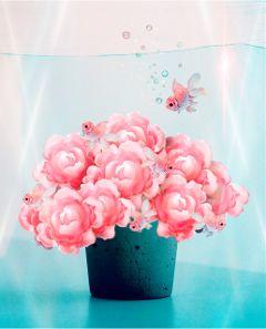 freetoedit madeinpicsart underwater fish flowers