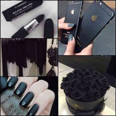 iloveblack freetoedit black roses lipstick