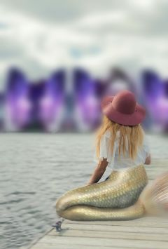 makeahatremix mermaid girl sea crystal freetoedit