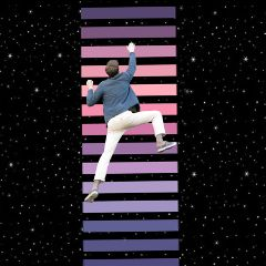 dailysticker myedit bars purple man space climber