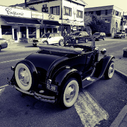 car blackandwhite crossprocess