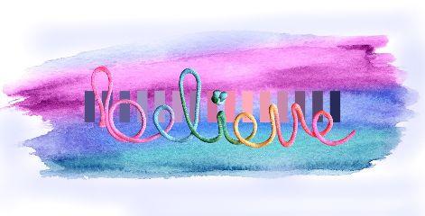 freetoedit believe colors paint art