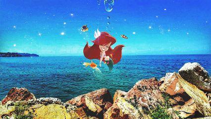 freetoedit ariel mermaid stars galaxy