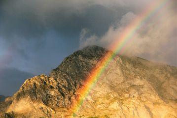 emotions mountain rainbow summer freetoedit
