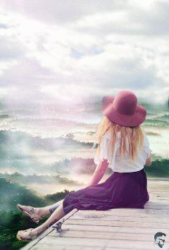 freetoedit girl beauty nature remix