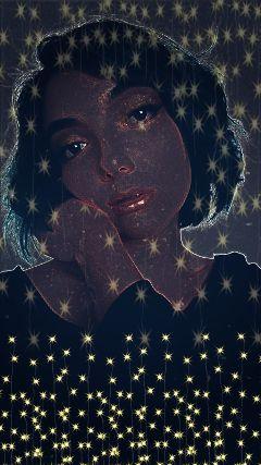 freetoedit girl stars beauty night