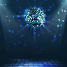 freetoedit background bluebackground discoball dancefloor