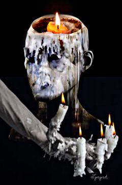 freetoedit surrealart wax candles melting