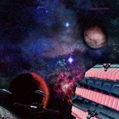 freetoedit pinkbuilding universe spaceship space