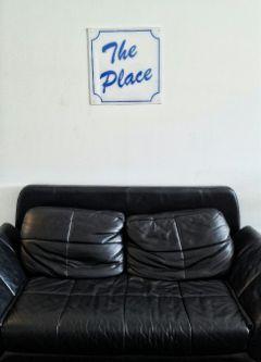freetoedit theplace leather loveseat sofa