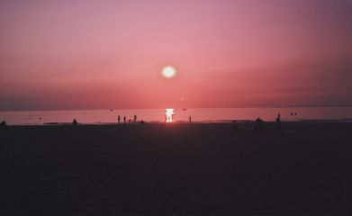 freetoedit sunset pink beach nature