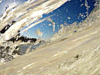 water wave drops beach sunshine