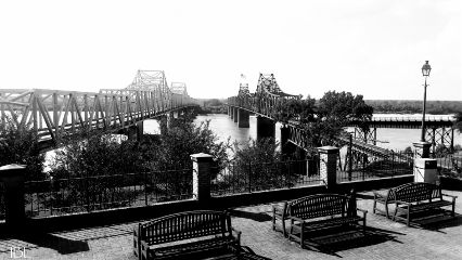 freetoedit remix vicksburgms mississippiriverbridge blackandwhite