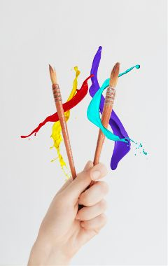 freetoedit paint brush hand