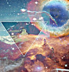 freetoedit nebula galaxy mountain rainbow