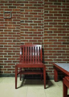 freetoedit simple chair brickwall minimal