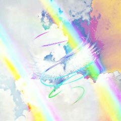 wings rainbow clouds dodger solarizationeffect freetoedit