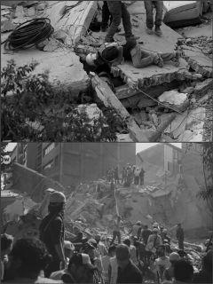 freetoedit blackandwhite mexicocity earthquake sadness