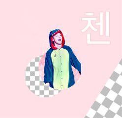 freetoedit chen happybirthday pink exo