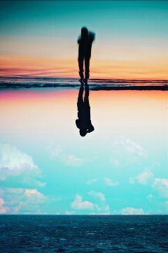 freetoedit surreal doubleexposure sunset clouds