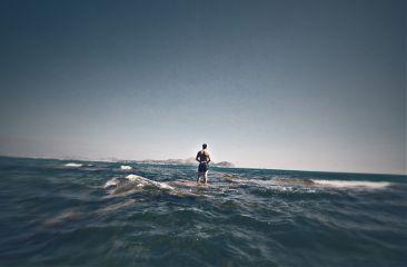sea me faraway water stand