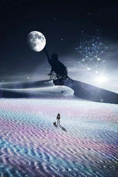 freetoedit dark night cat moon