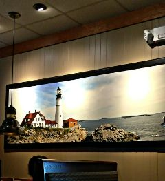 3d lighthouse rocks water realistic