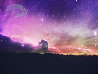 freetoedit space galaxy moon hue