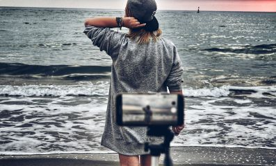 sea shooting telephone hat sunrise