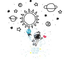 doodlegalaxystickerremix freetoedit remix planets astronaut