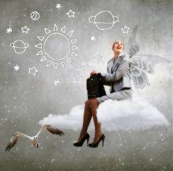 doodlegalaxystickerremix girl cloud surreal surrealist freetoedit