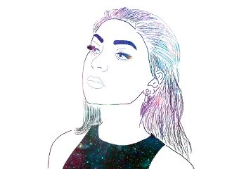 freetoedit galaxy hair girl tumblr