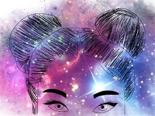 freetoedit galaxy tumblr girl eyes