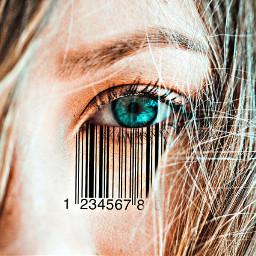 freetoedit stickeroftheday eye barcode hdr