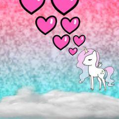 glitterbackground loveclouds