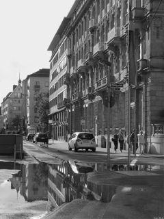 street blackandwhite mirrored city