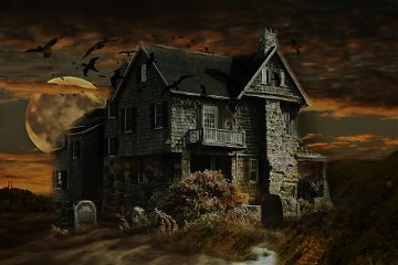hauntedhouse freetoedit darkart doubleexposure myedit