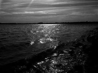 freetoedit blackandwhite lake wawes sky